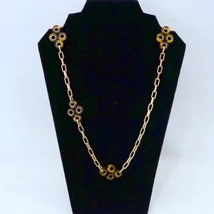 TORY BURCH~Large Tortoise Clover~CHAIN NECKLACE